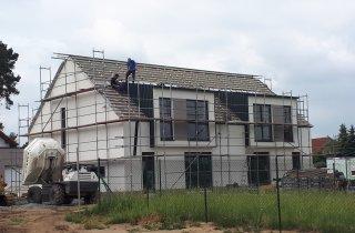 Střecha dvojdomku - Zruč u Plzně