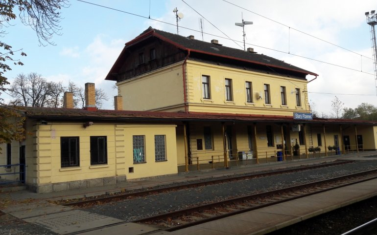 nádraží Starý Plzenec - původní stav