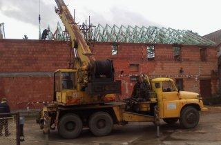 Montáž střechy - Pňovice