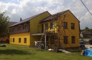 Střecha domu Pňovice