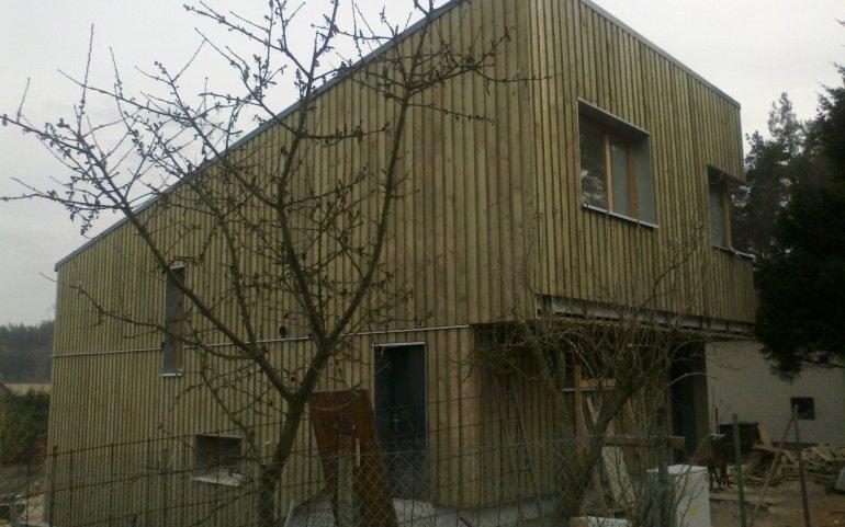 Dřevěný obklad fasády Plzeň