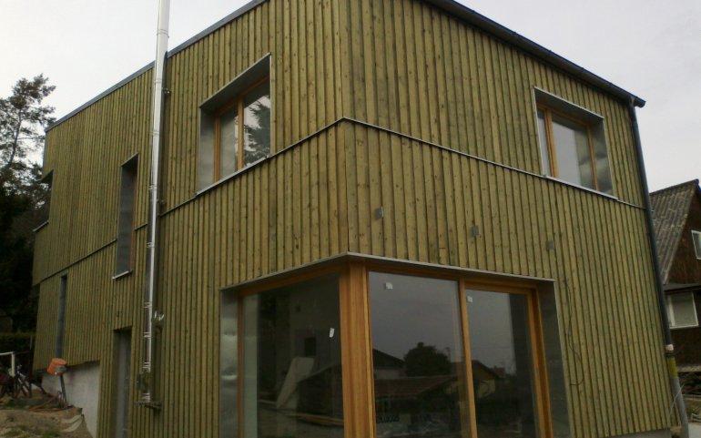 Dřevěný obklad fasády na rodinném domě