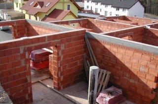 Průběh stavby rodinných domů