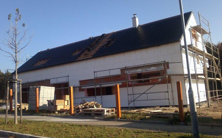 Střecha na rodinném domě