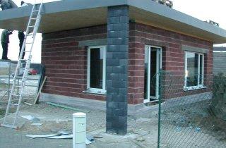 Realizace střechy - při práci