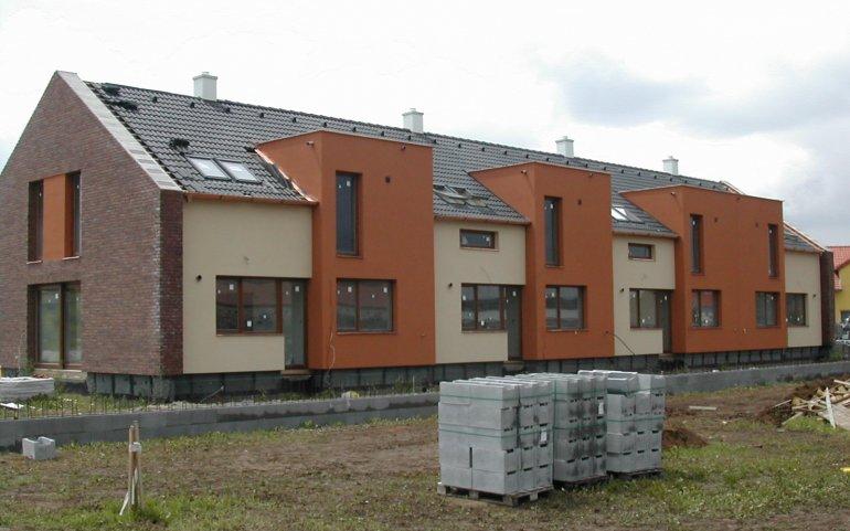 Střecha na řadových domech