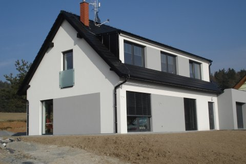 Fasáda rodinného domu - Losiná u Plzně