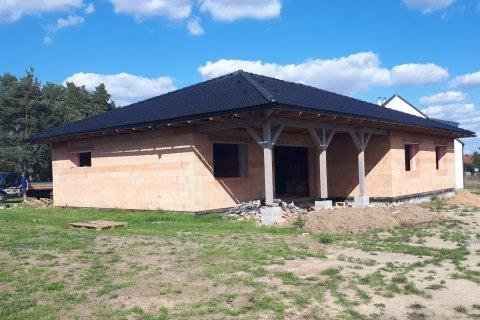 Střecha novostavby rodinného domu - Zruč