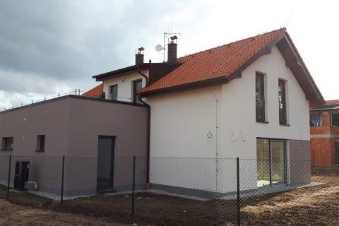 Střecha novostavby Zruč