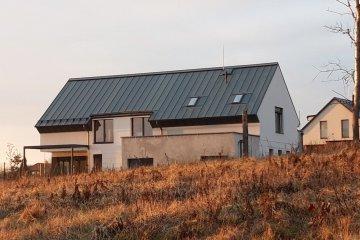Plechová střecha novostavby - Letkov