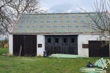 Rekonstrukce střechy hospodářské budovy - Skašov